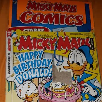 2 mal Micky Maus Comichefte