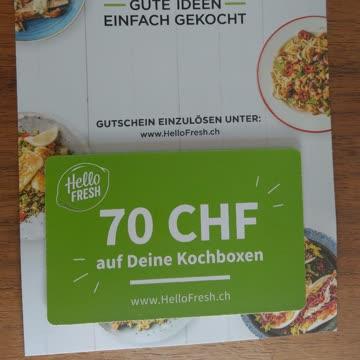 Hello Fresh Gutschein 70.-