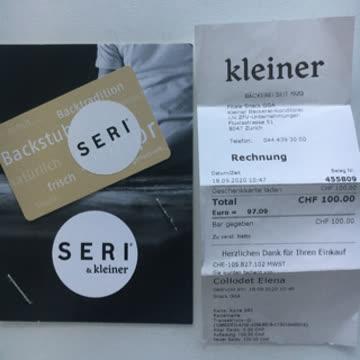 Seri&kleiner Wertkarte 100.-