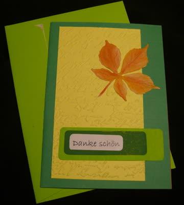 Danke schön Karte / grün