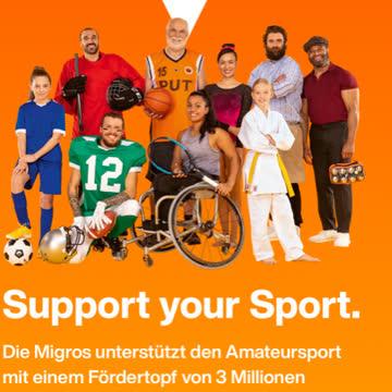 Support your Sport von Migros