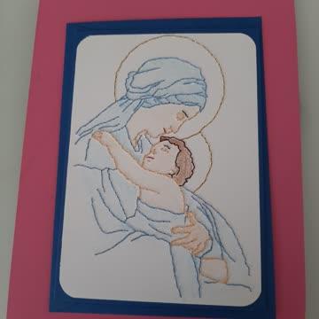 Karte Madonna mit Kind