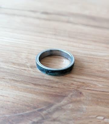 Ring, blau/grün, Durchmesser innen: 17mm