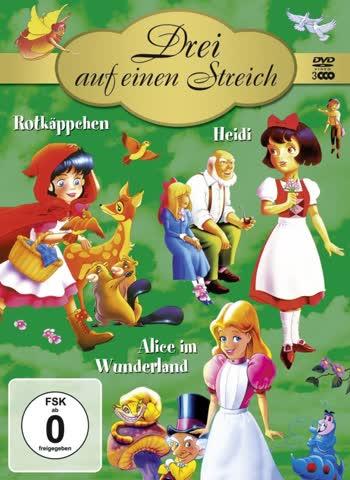 Drei auf einen Streich - Rotkäppchen / Heidi / Alice im Wunderland  (3 DVDs)