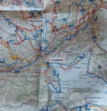 Velokarte Luzern