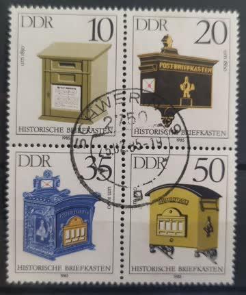 1985 Historische Briefkästen Zusammenhängend MiNr: