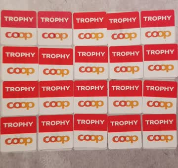 Coop Trophy, volle Sammelkarte