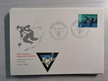 1966 Sonderstempelbeleg 3825 Arlberg Kandahar Rennen