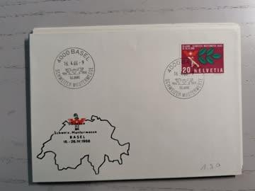 1966 Sonderstempelbeleg 4000 Basel Schweizer Mustermesse MUB