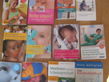 Bücher zu Thema Schwangeschaft/Geburt/Durchschlafen