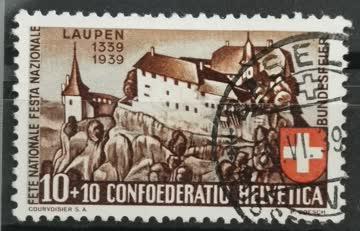 1939 Pro Patria Schloss Laupen gestempelt