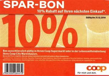 Coop 10 Prozent