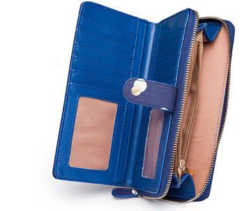 NEUES Portemonnaie Blau-Weiss Polka dots
