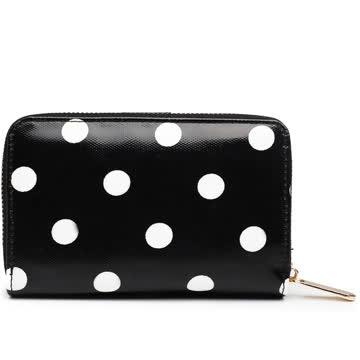 NEUES Portemonnaie schwarz-weiss Polka dots