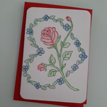 Blumenkarte mit Herz