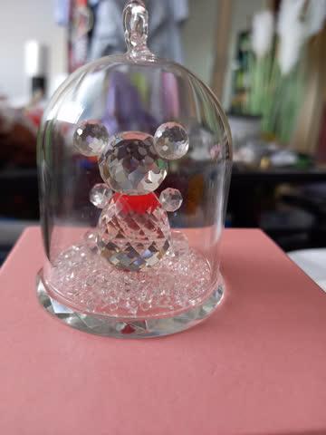Kristallfigur Bärchen in Glocke