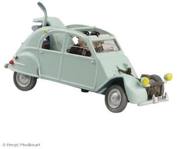 Tintin Auto: Citroen 2cv, demoliert