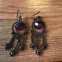Ohrhänger, violett