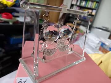Kristallfigur 2 Bärchen auf Schaukel