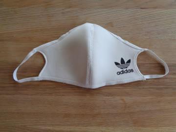 Weisse ADIDAS Mund-Nasen-Maske