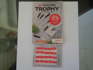 50 STK. Coop Trophy Kleber geklebt