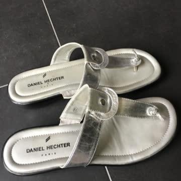 Daniel Hechter Pantoletten Silber Gr. 6,5