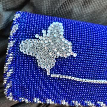 Clutch in blau