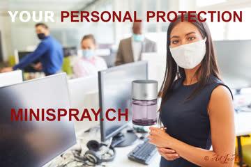 MINISPRAY : Die persönliche Design Desinfektionsmittellösung