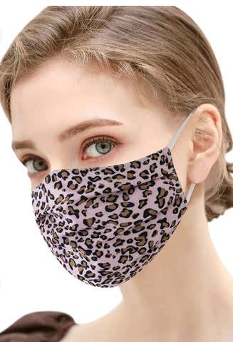 NEUE Stoff Maske mit Leoparden Motiv