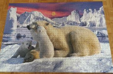"""Ravensburger Puzzle """"Eisbärenfamilie"""" 1500 Teile"""