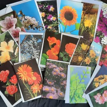 20 stk Karten  mit Blumen