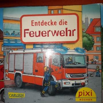3 mal mini Büchlein Thema Feuerwehr