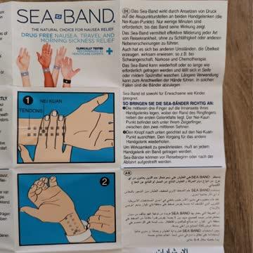 Sea Band Gegen Übelkeit z. B Schwangerschaft