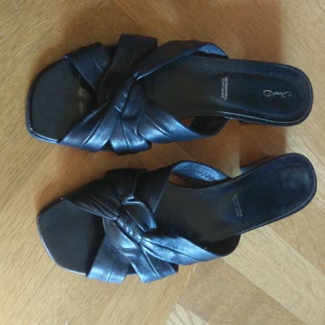 Sandaletten schwarz Gr. 40