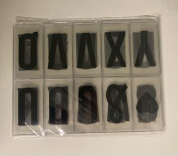 Buchstaben für Leuchtbox A4