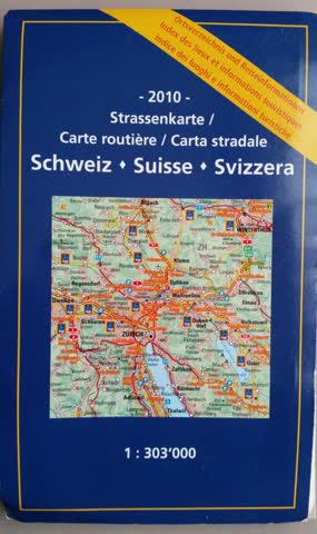 Schweiz - Strassenkarte 1:303 000 - 2010