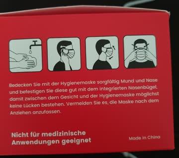 50 Stk Einweg-Hygienemasken mit Schweizer Flagge