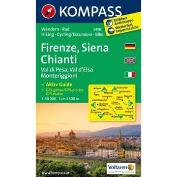 Kompass Karte: Firenze, Siena Chianti