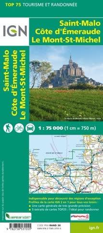 Landkarte: Saint-Malo - Côte d'Emeraude - Le Mont-Saint-Michel