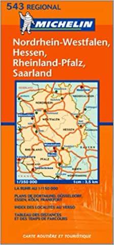 Landkarte: Michelin Nordrhein-Westfalen, Hessen, Rheinland-Pfalz, Saarland