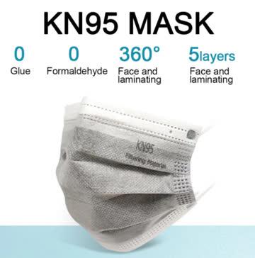 5 Stk. NEUE FFP2 Einweg Maske grau