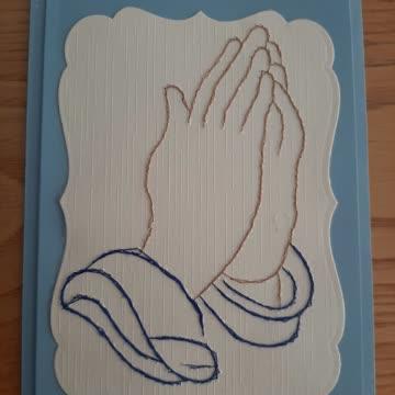 Karte betende Hände