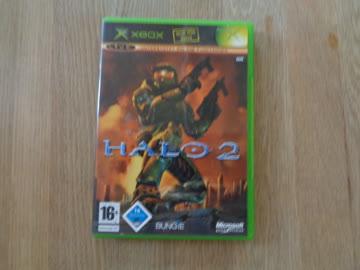 Leere Hülle und Booklet XBOX Halo2
