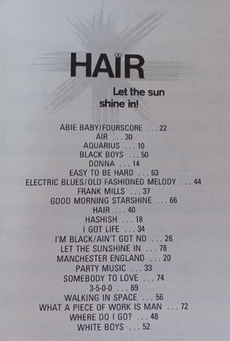 Notenbuch Hair