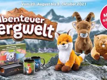 Abenteuer Bergwelt Coop 1 volle Sammelkarte + viele Marken