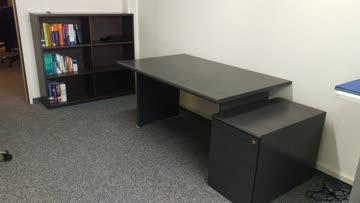 Schreibtisch & Schubladenkorpus, dunkelgrau