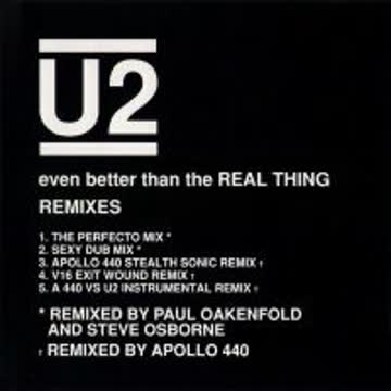 U2 - Even better than the real thing (Remixes, 5 versions, 1992)