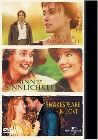 Stolz & Vorurteil / Sinn und Sinnlichkeit / Shakespeare in Love [Limited Edition] [3 DVDs]