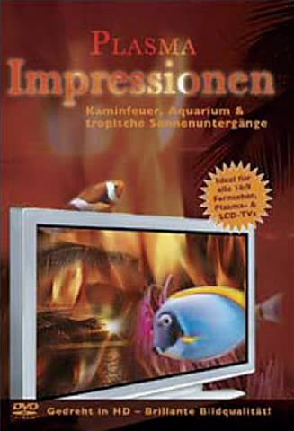 Plasma Impressionen - Kaminfeuer, Aquarium & tropische Sonnenuntergänge