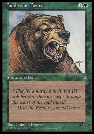 Eiszeit - Balduvianische Bären